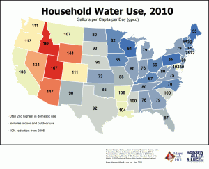 Maps on the Hill National Household Water Use 2010