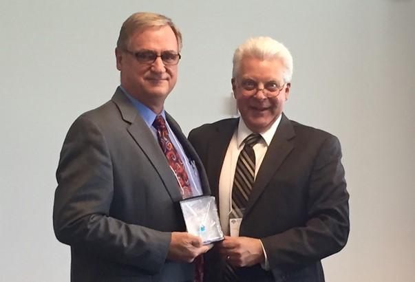 David Hansen receives AWRA Outstanding Service award