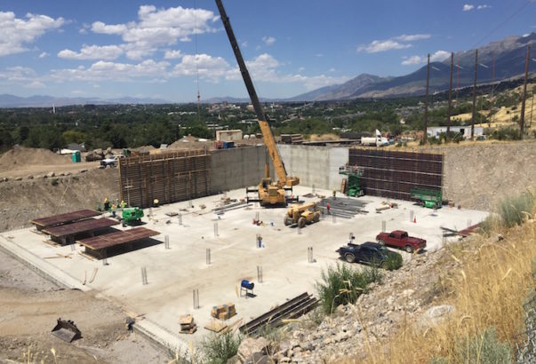 Video: Provo water tank concrete pour