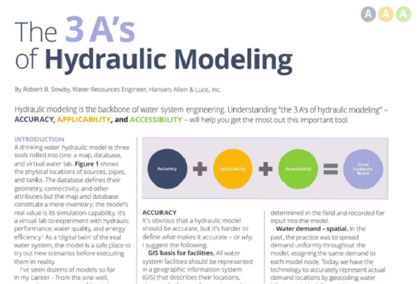 The 3 A's of Hydraulic Modeling