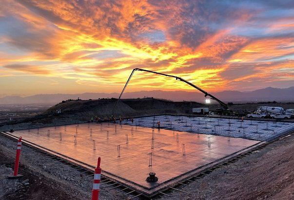 Constructing a 5-million-gallon water tank amid extreme summer heat